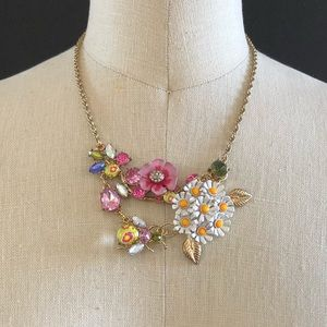 Betsy Johnson Floral Frontal Necklace